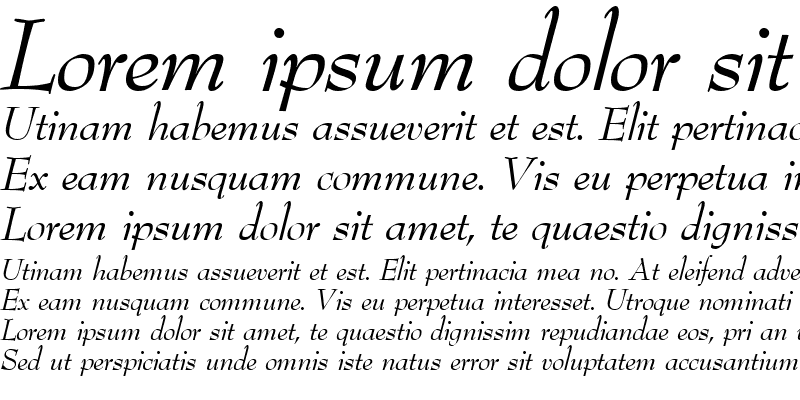Sample of BernhardModern RegularItalic