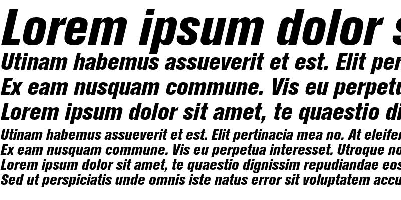 Sample of Berthold Akzidenz Grotesk Extra Bold Condensed Italic