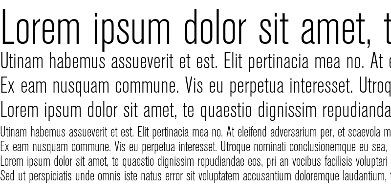 Sample of Berthold Akzidenz Grotesk Light Condensed