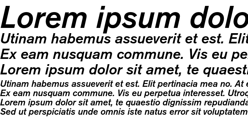 Sample of Berthold Akzidenz Grotesk Medium Italic