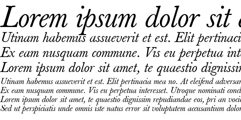 Sample of Berthold Baskerville Book Italic