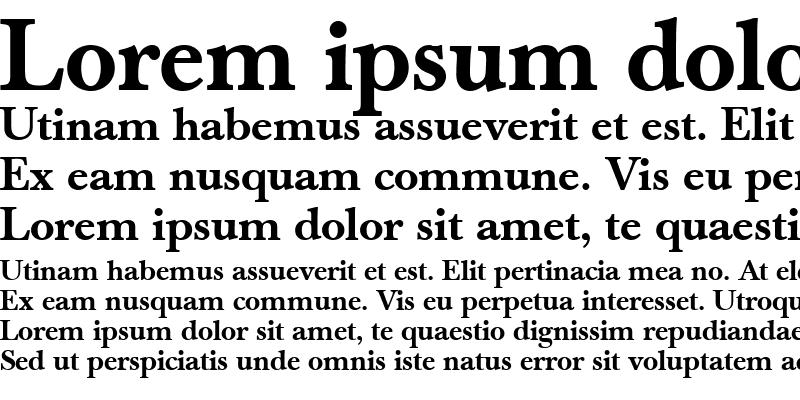 Sample of Berthold Baskerville Book Medium