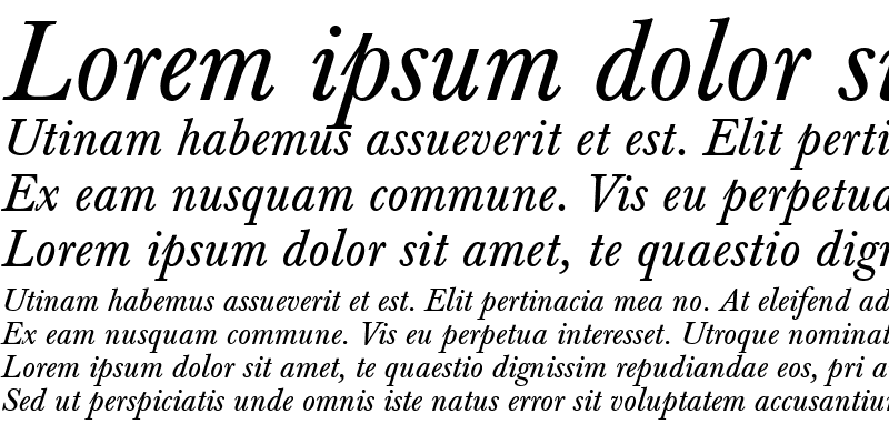 Sample of Berthold Baskerville Italic