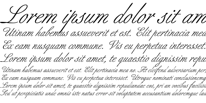 Sample of BertholdScript RomanItalic