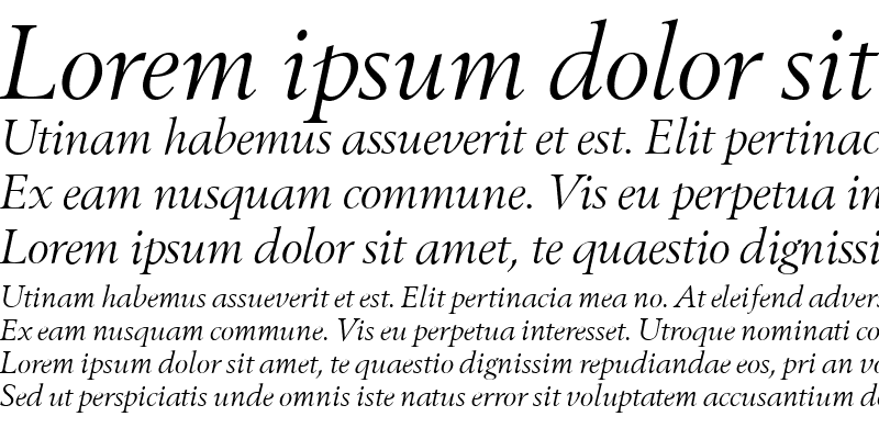 Sample of Bestseller Italic