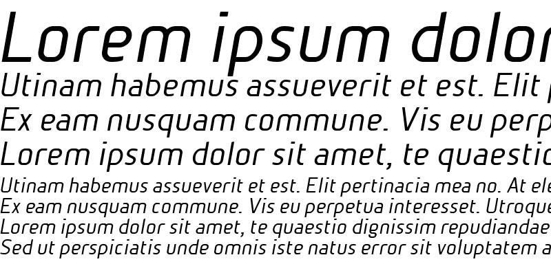 Sample of BetaSansNormOblique