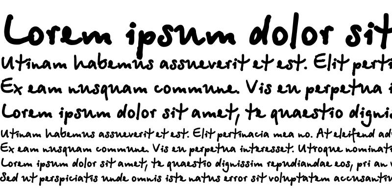 Sample of BetinaScriptXCTT Regular