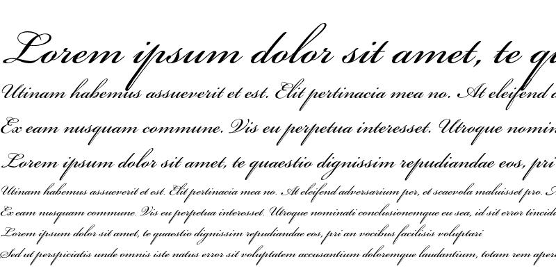 Sample of Bickham Script 400