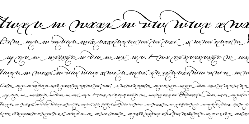 Sample of Bickham Script Alt Four Regular