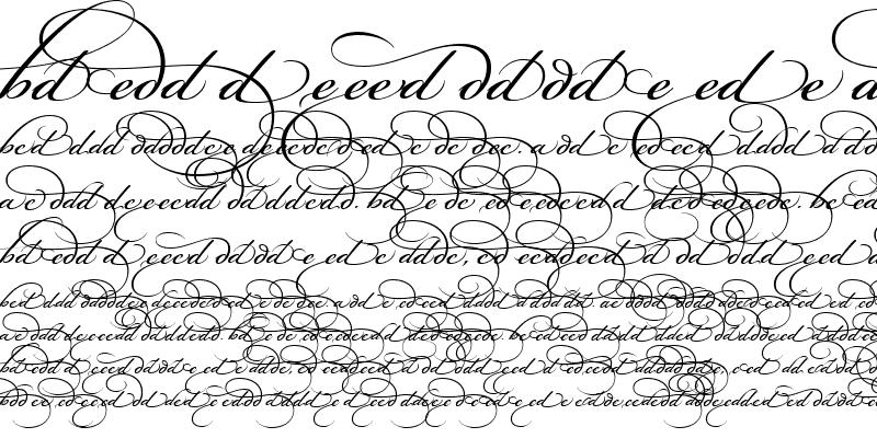 Sample of Bickham Script Alt One Regular