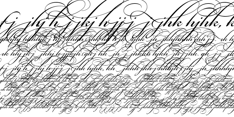 Sample of Bickham Script Alt Two
