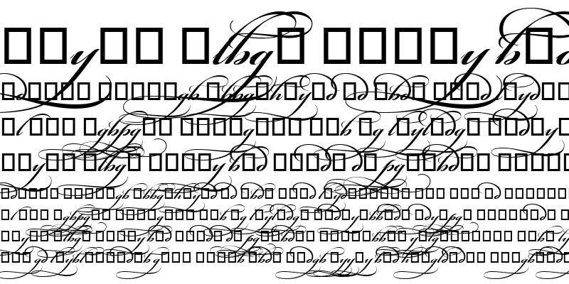 Sample of Bickham Script MM Alt 2