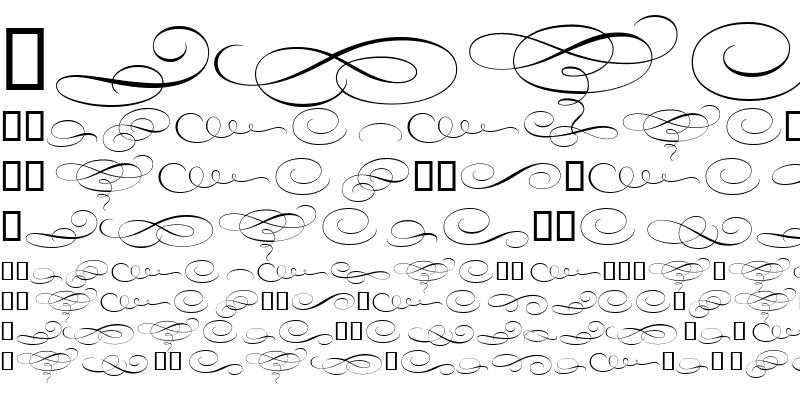 Sample of Bickham Script MM Orn Or