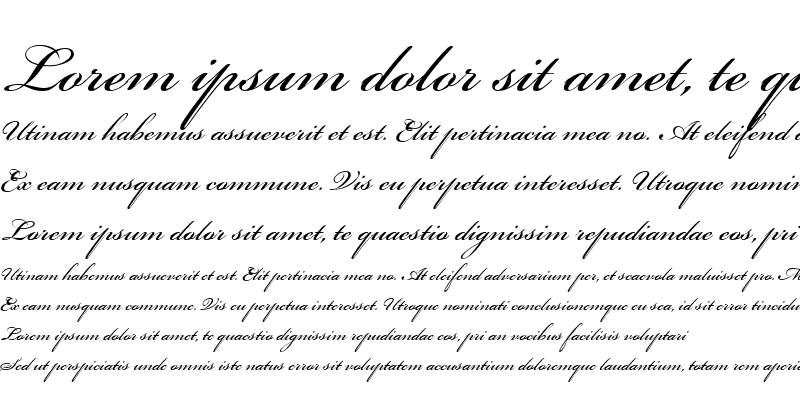 Sample of Bickham Script One Regular