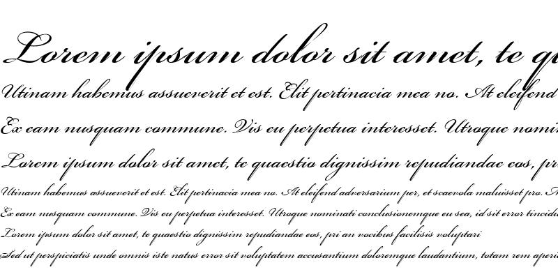 Sample of Bickham Script Regular