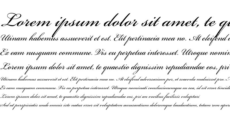 Sample of Bickham Script Std
