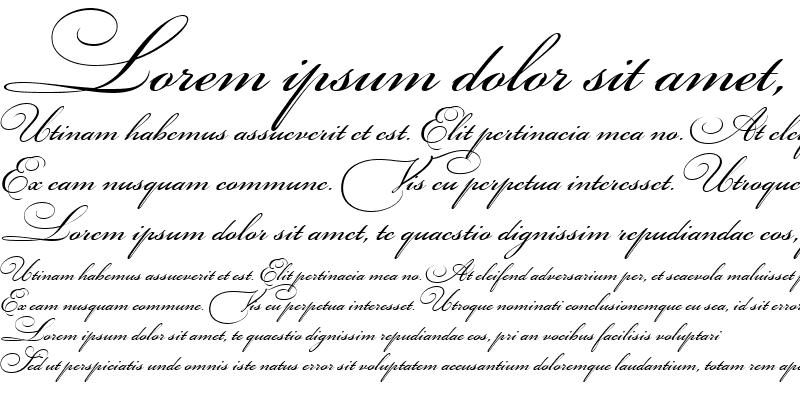 Sample of Bickham Script Three