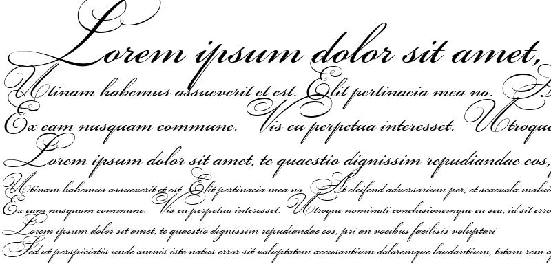 Sample of Bickham Script Two Regular