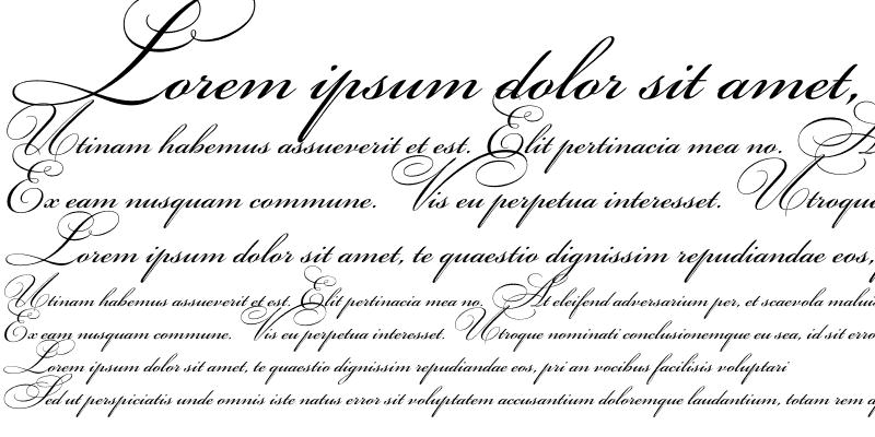 Sample of BickhamScriptC