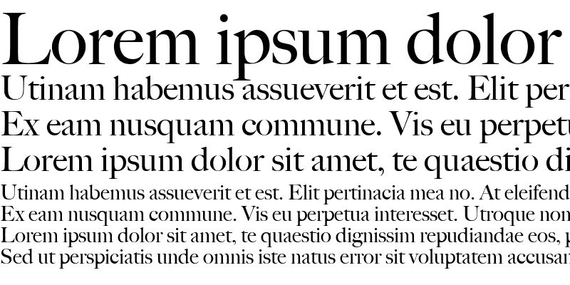 Sample of Big Caslon Medium