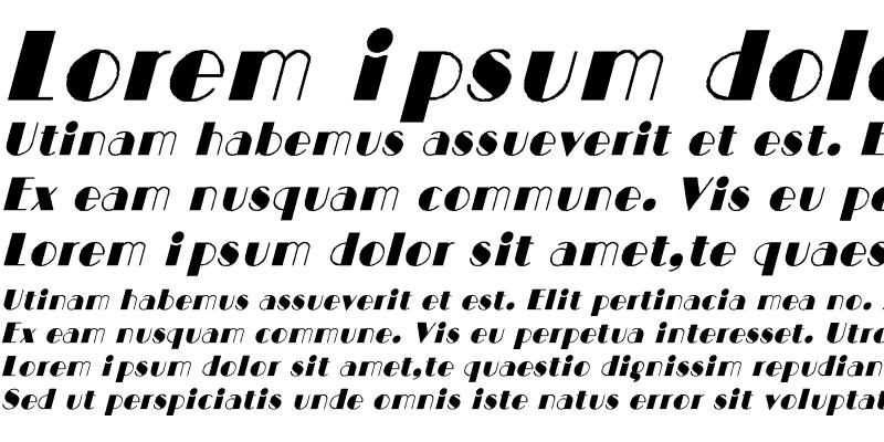 Sample of BIGCITY-Normal Italic