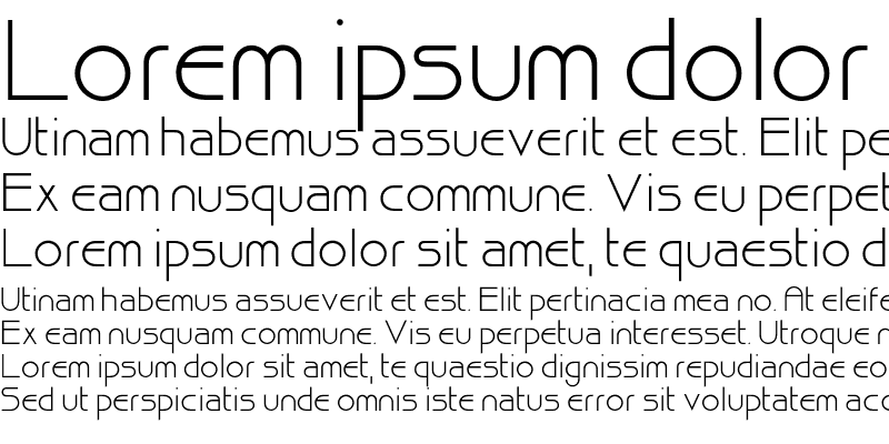 Sample of Bisque Font