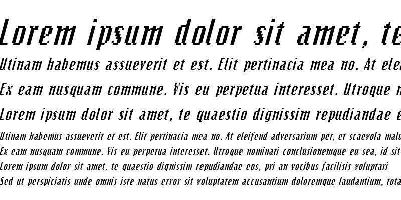 Sample of Bits Italic