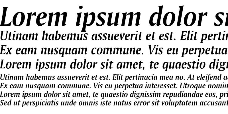 Sample of Bitstream Amerigo Bold Italic