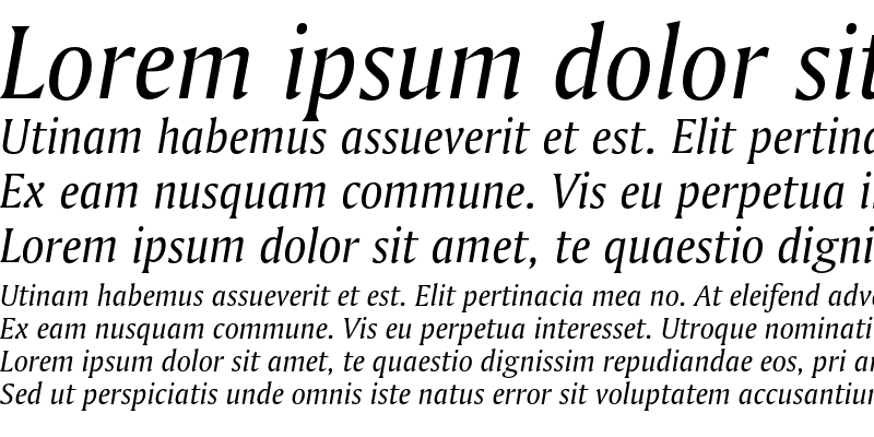 Sample of Bitstream Amerigo Italic