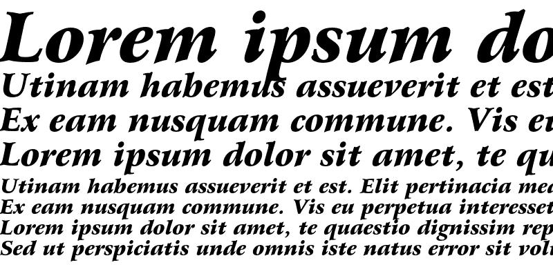 Sample of Bitstream Arrus Black Italic