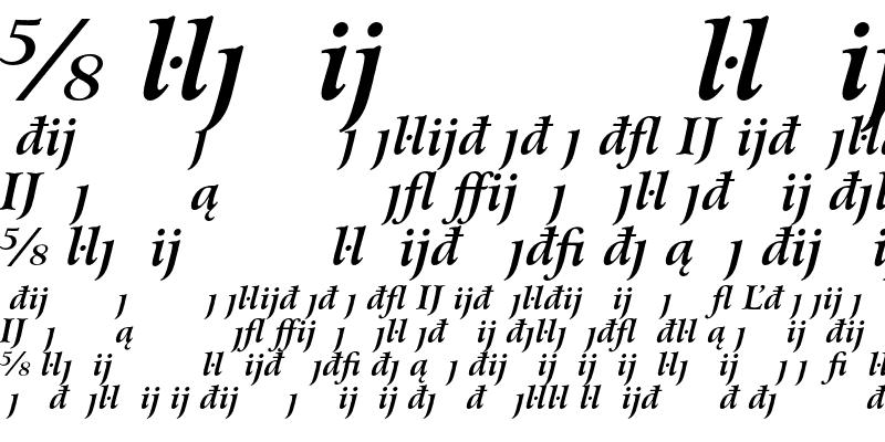 Sample of Bitstream Arrus Extension Bold Italic