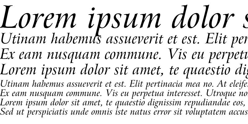 Sample of Bitstream Arrus Italic
