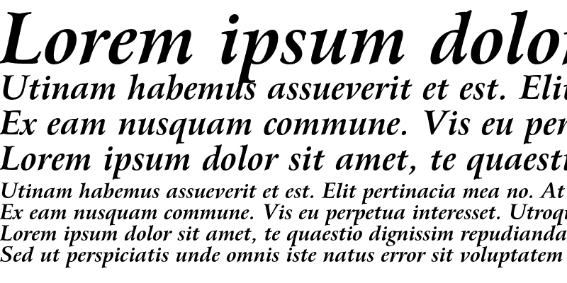 Sample of Bitstream Arrus OSF Bold Italic