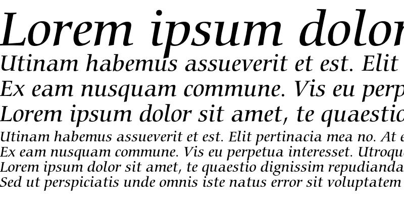 Sample of Bitstream Carmina Medium Italic