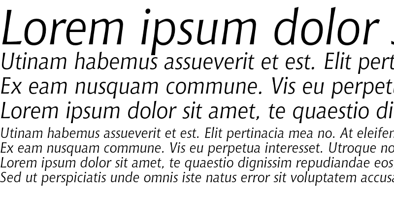 Sample of Bitstream Chianti Italic