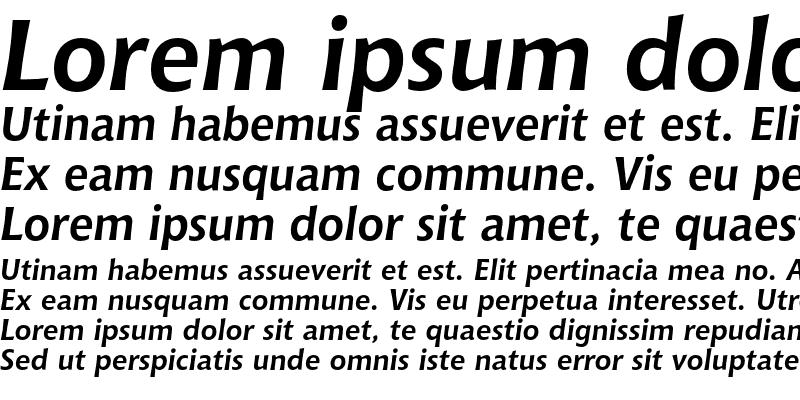 Sample of Bitstream Chianti OSF Bold Italic