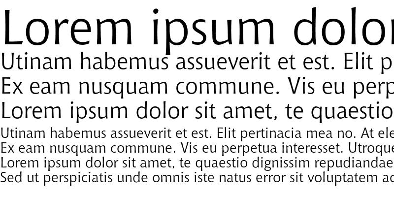 Sample of Bitstream Chianti Regular