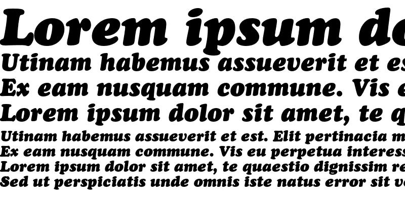Sample of Bitstream Cooper Black Headline Italic