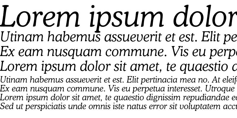 Sample of Bitstream Cooper Light Italic
