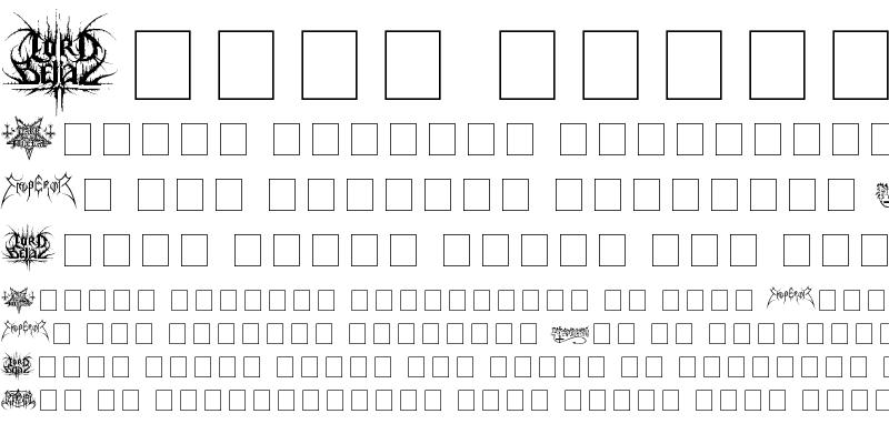 Sample of Black Metal Logos Dingbats