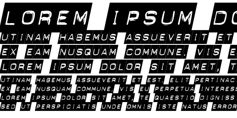 Sample of Blackout Italic