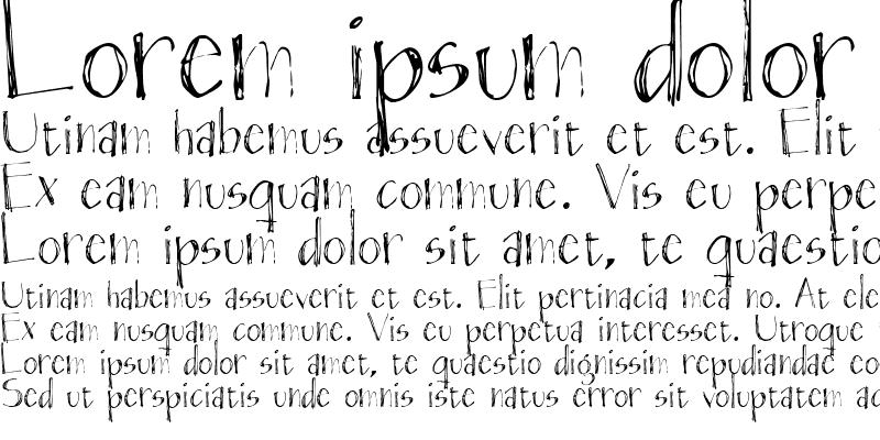 Sample of Blackout Sans Px Regular