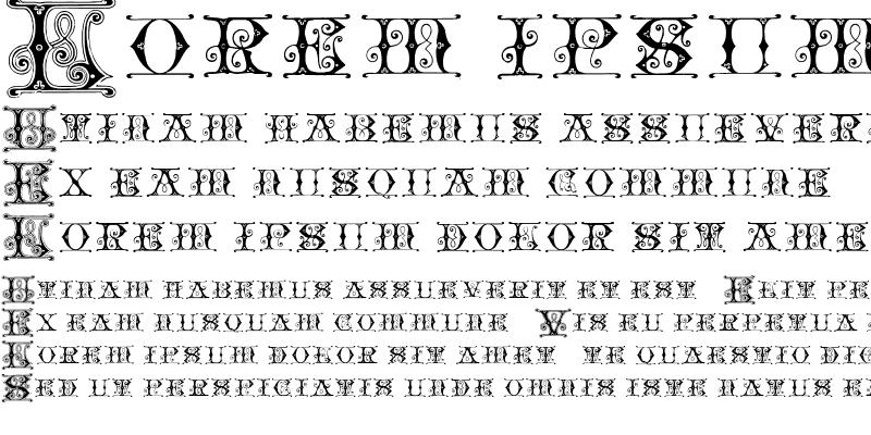 Sample of Blavicke Capitals Semi-expanded Regular