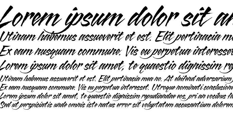 Sample of Blazing Italic