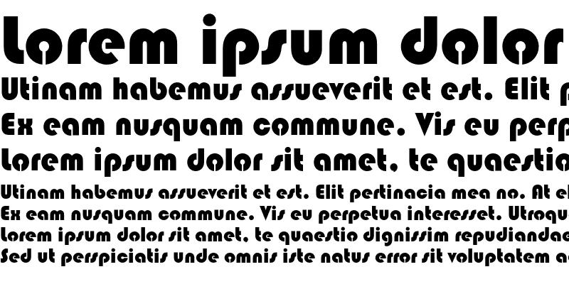 Sample of Blippo Stencil D OT