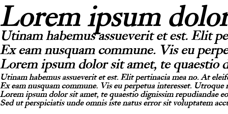 Sample of Bliss Bold Italic