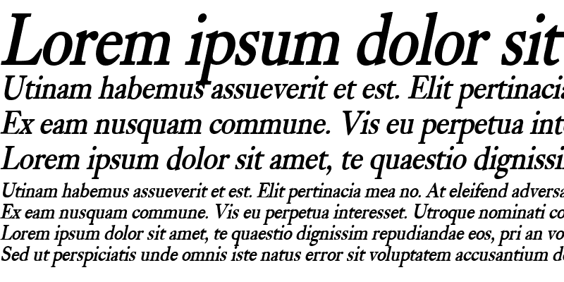 Sample of Bliss Condensed Bold Italic