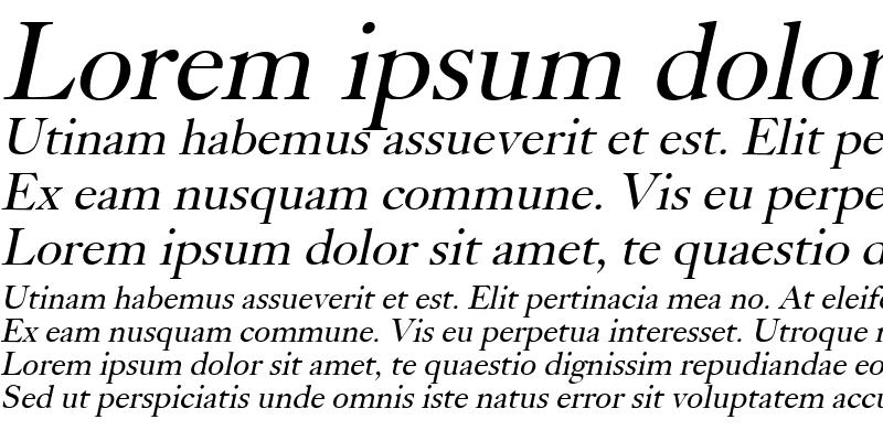 Sample of Bliss Italic