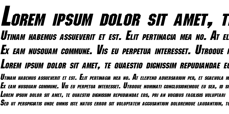 Sample of Block Bold Italic