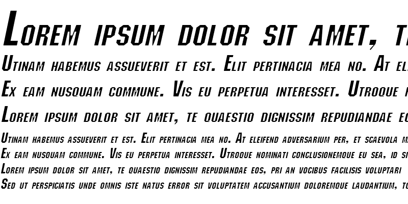 Sample of Block Italic